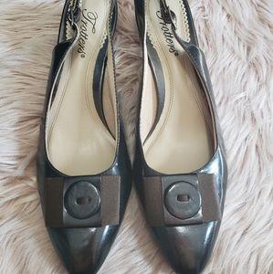 Trotters black sling back shoe. Size 8